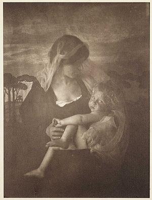 The Awakening, a 1903 carbon print by Emma Bar...