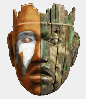 Emmons Cemetery Site - Emmons mask, left side reconstructed