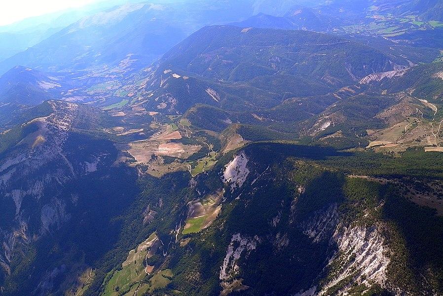 En vol vers Saint André Les Alpes
