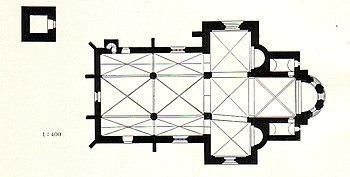 Floor plan of the Enger collegiate church