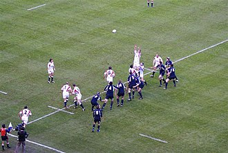 History of rugby union in Scotland - Lineout in England-Scotland game, 2007