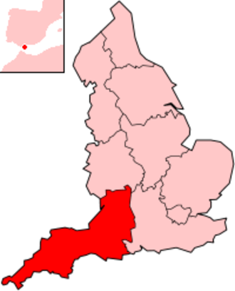 South West England (European Parliament constituency) - Image: England South West Region 2004