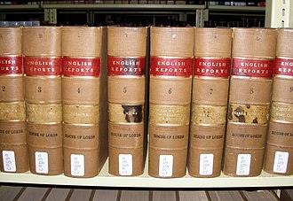 Law report - A few volumes of the English Reports at a law library