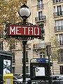 Entrée Station Métro Michel Ange Molitor Paris 2.jpg