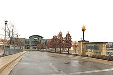 Entrance to Twelve Mile Crossing at Fountain Walk Shopping Center Novi Michigan.JPG