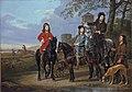 Equestrian Portrait of Cornelis (1639–1680) and Michiel Pompe van Meerdervoort (1638–1653) with Their Tutor and Coachman ( Starting for the Hunt ) MET DP146442FXD.jpg