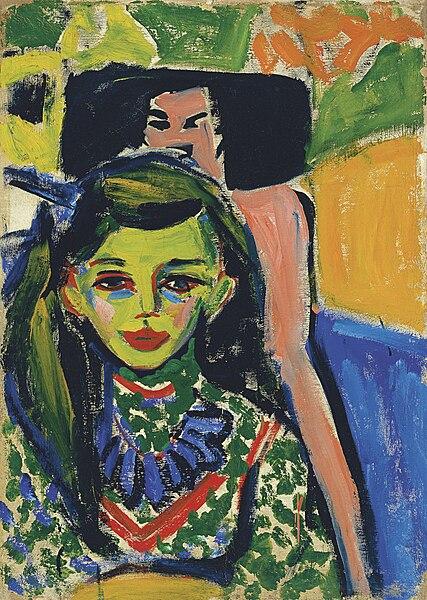 Archivo: Ernst Ludwig Kirchner - Fränzi frente a un Chair.jpg Tallada
