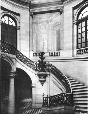 Pierre Contant d'Ivry - Northern flight of the Palais-Royal staircase