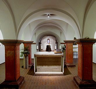 Essen Minster - View of the inner crypt of Theophanu