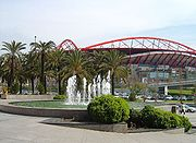 A view outside Benfica's stadium