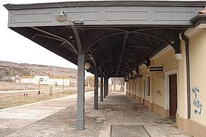 English: Train station in Villa Regina, Río Ne...