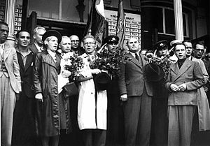 Karl Säre - Säre with other Estonian Commuist Party officials in Tallinn, July 1940.