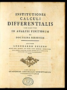 Institutiones calculi differentialis