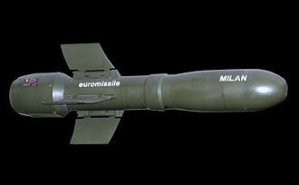 Battle of Goose Green - Milan missile, similar to those used in the battle by British paratroopers