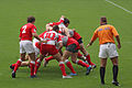 European Sevens 2008, Wales vs Poland, scrum.jpg