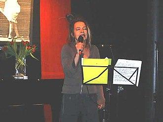 Eve Libertine - Eve Libertine performing as part of Last Amendment at the Hackney Vortex Club, January 2006