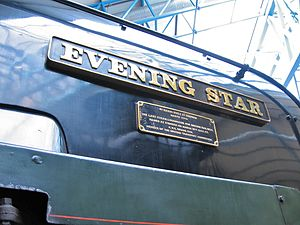 BR Standard Class 9F 92220 Evening Star - Nameplate and plaque