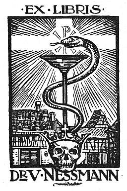 Ex libris Dr. Victor Nessmann
