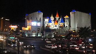 Excalibur Hotel and Casino - Image: Excalibur tropicana avenue