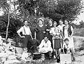 Excursion, cauldron, companionship, cooking, men, women, kids, soda water bottle, tableau, summer, free time Fortepan 12444.jpg
