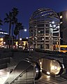 Exterior of Vermont and Sunset Metro station at night 2015-02-13.jpg