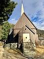 Fåvang Church (kirke) c. 1630, at Tromsnesvegen, Fåvang, Ringebu, Gudbrandsdalen, Oppland, Norway. Msin entrance door, etc. 2017-04-05 4064.jpg