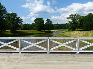 Schloss Muskau - Bridge over the Neisse in Muskau Park