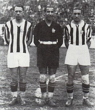 Umberto Caligaris - Rosetta, Combi and Caligaris with Juventus in the 1930s
