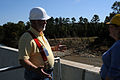FEMA - 42295 - FEMA Public Assistance Official with County Official at Dam..jpg