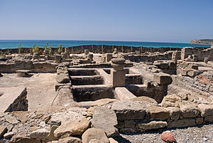 Garum - Ruins of a garum factory in Baelo Claudia in Spain.