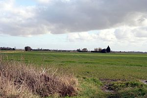 Bourne, Lincolnshire - Typical fenland farmland on the east of town