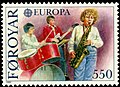 Faroe stamp 111 europe cept 1985 - year of the music.jpg