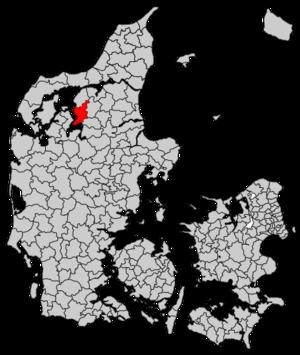 Farsø Municipality - Image: Farsø Municipality map