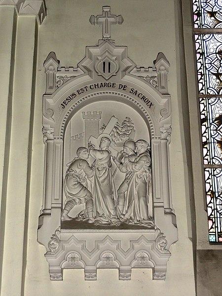 Feignies (Nord, Fr) église, chemin de croix, station 02