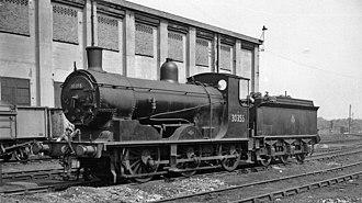 LSWR 700 class - No. 30355 on Feltham locomotive depot, May 1959