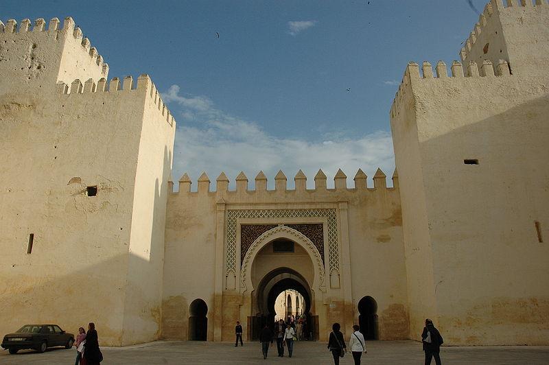 File:Fes - Palau Reial - Bab El Seba des N.JPG