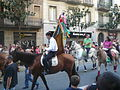 Festa Major de Gràcia 2011 - colles de Sant Medir - XIII cercavila de cultura popular - carrer Gran P1330052.jpg