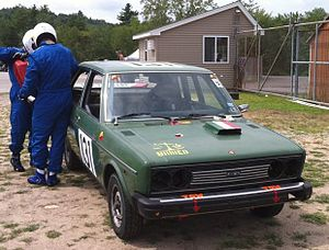 24 Hours of LeMons - A typical LeMons racer being refueled; in this case, a Fiat 131.
