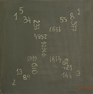 Fibonacci numbers in popular culture - Martina Schettina: Fibonaccis Dream, 2008, 40 x 40 cm