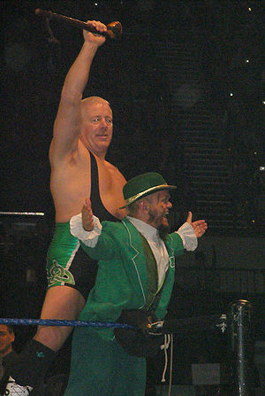 Dave Finlay - Finlay with his on-screen son Hornswoggle