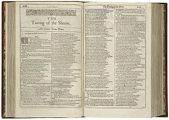 First page of The Taming of the Shrew from the First Folio (1623) First-page-first-folio-taming-shrew.jpg