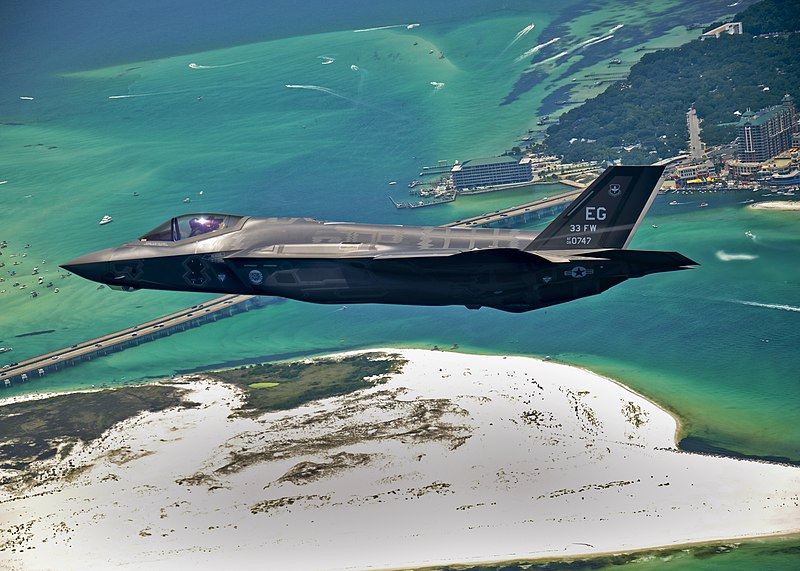 File:First F-35 headed for USAF service.jpg