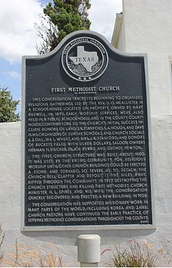 First methodist church, rocksprings, texas historical marker (7898154798)