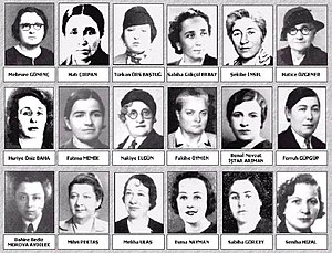 Eighteen female MPs joined the Turkish Parliam...