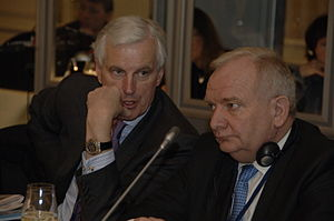 Michel Barnier - Barnier and Joseph Daul in 2008
