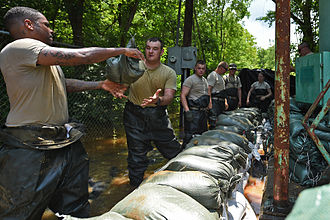 2015 Louisiana floods - Image: Flood Response