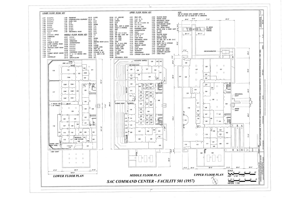 File Floor Plans Offutt Air Force Base Strategic Air Command Headquarters And Command Center Headquarters Building 901 Sac Boulevard Bellevue Sarpy County Ne Haer Ne 9 M Sheet 5 Of 6 Png Wikimedia Commons