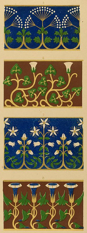 detail floriated ornament a series of thirty one designs 1849 in the mary ann beinecke decorative art collection sterling and francine clark art - Decorative Art