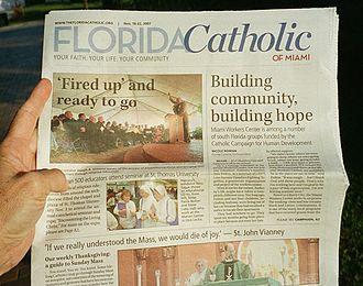 Florida Catholic - Image: Florida Catholic Nov. 20, 2007