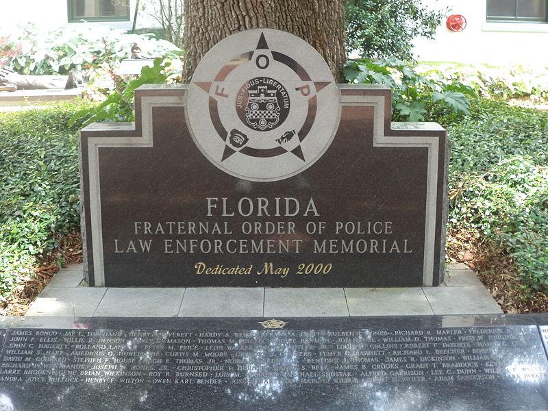 File:Florida Fraternal Order of Police Law Enforcement Memorial at Florida State Capitol.JPG